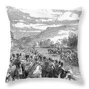 Horse Racing, 1850 Throw Pillow