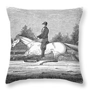 Horse Racing, 1851 Throw Pillow