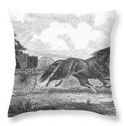 Horse Racing, 1862 Throw Pillow