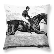 Horse Racing, 1880s Throw Pillow by Granger