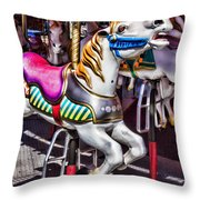 Horse Ride Throw Pillow