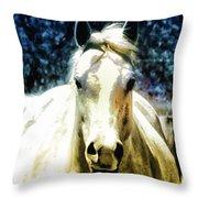 Horse Sense Throw Pillow