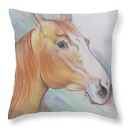 Horse Spooked Throw Pillow