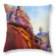 Horse Trainer Throw Pillow