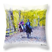 Horseback Riding  Throw Pillow