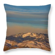 Horses And Moon Throw Pillow