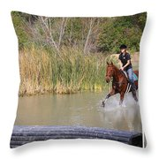 Horses Dont Like Water Throw Pillow