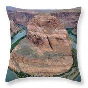 Horseshoe Bend Near Page - Arizona Throw Pillow
