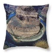 Horseshoe Bend View Throw Pillow