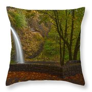 Horsetail Falls Throw Pillow