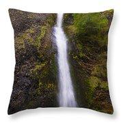 Horsetail Falls Oregon Throw Pillow