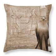Horus Temple Throw Pillow