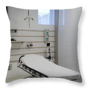Hospital Gurney Throw Pillow