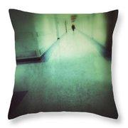 Hospital Hallway Throw Pillow