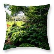 Hosta Garden Throw Pillow