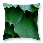 Hosta Green Throw Pillow