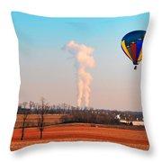 Hot Air Balloon Near Limerick Pa Throw Pillow