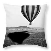 Hot Air Balloon Shadows Throw Pillow