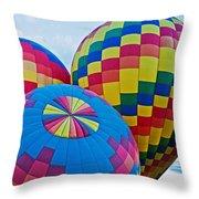Hot Air Balloons Panorama Throw Pillow