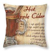 Hot Apple Cider Throw Pillow