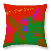 Hot As A Pepper New Year Greeting Card Throw Pillow