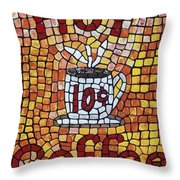 Hot Coffee 10cents Throw Pillow