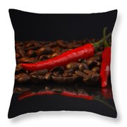 Hot Coffee Throw Pillow by Tanja Riedel