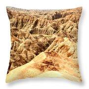 Badlands Of South Dakota Throw Pillow