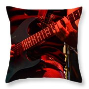Hot Licks Throw Pillow by Bob Christopher