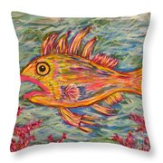 Hot Lips The Fish Throw Pillow