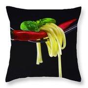Hot Pasta  Throw Pillow