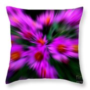 Hot Pink And Green Throw Pillow