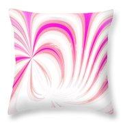 Hot Pink Swirls Throw Pillow