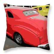 Hot Rod Car Show Throw Pillow