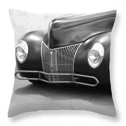 Hot Rod Front End Throw Pillow