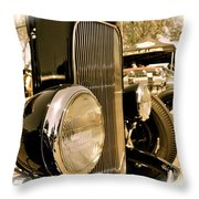 Hot Rod Grille Throw Pillow