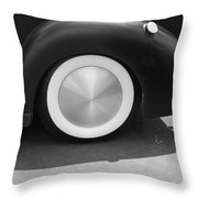 Hot Rod Wheel Throw Pillow
