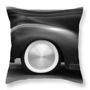 Hot Rod Wheels Throw Pillow