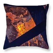 Hot Rust Throw Pillow
