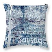Hot Sausage Throw Pillow