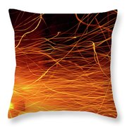 Hot Sparks Throw Pillow