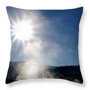 Hot Springs Sunshine Throw Pillow
