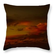 Hot Summer Night Sky Throw Pillow