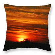 Hot Summer Night Sunset Throw Pillow