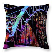 Hot Town Summer In The City Throw Pillow
