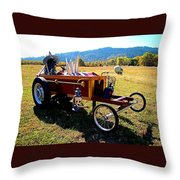 Hot Wheels For The Witch Throw Pillow