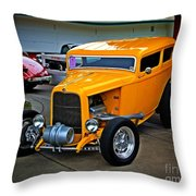 Hot Yellow Throw Pillow