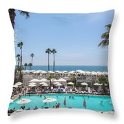 Hotel Del Coronado Pool  Throw Pillow