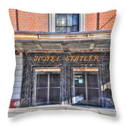 Hotel Statler Throw Pillow