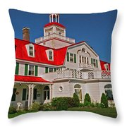 Hotel Tadoussac ... Throw Pillow